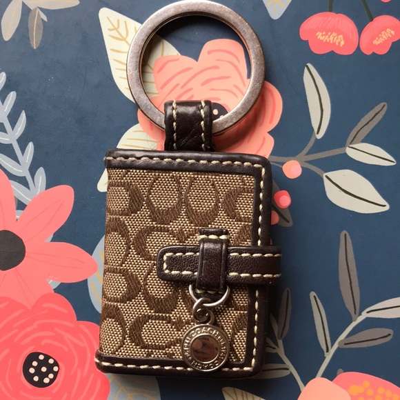 Coach Accessories - Coach signature canvas keychain